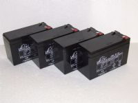 4x Leoch LP12-7.0S - 12v 7ah Alarm Batteries